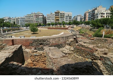 Roman Forum of Thessaloniki - ancient Roman-era forum of the city, Agora, located at the upper side of Aristotelous Square