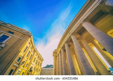 Roman landscape. Beautiful streets of Rome