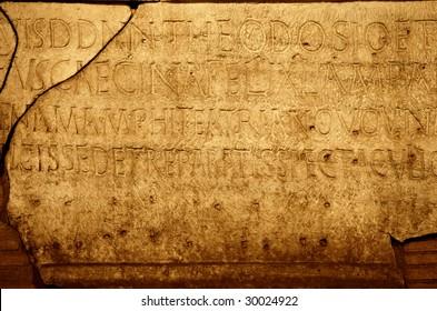 Roman letters texture