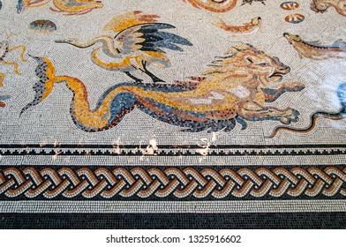 Roman mosaic found in Bad Vilbel, Germany