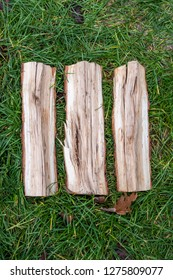 Roman numeral. Roman numerals III made from oak.
