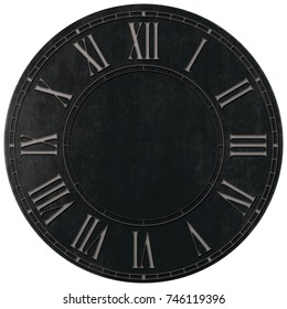 Roman numeral wall o clock background