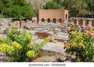 Roman Odeon in ancient site of Gortyn. Messara plain, Crete, Greece