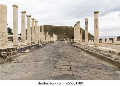 Roman Palladius street in Bet She'an, Israel