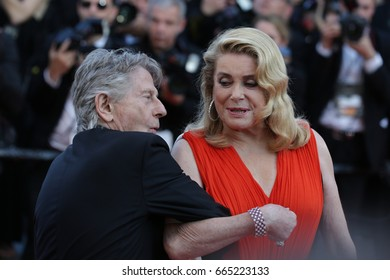 Roman Polanski, Ketrin Denev attends the 70th Anniversary screening  premiere for at the 70th Festival de Cannes. May 23, 2017 Cannes, France