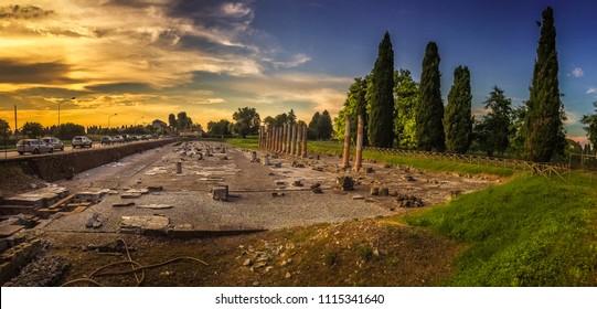 Roman Ruins in Aquileia, Friuli Venezia Giulia (Italy)