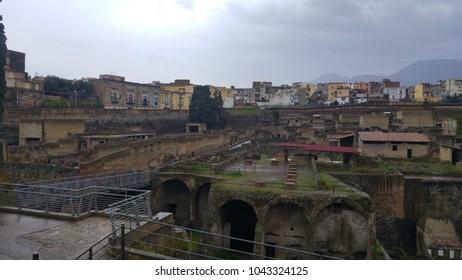 Roman ruins in Ercolano (Italy)