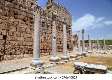 Roman ruins in Perges, Turkey