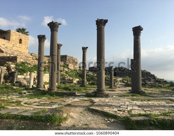 Roman ruins in Umm Qais, Jordan