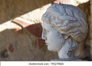 Roman ruins in Vaison-la-Romaine town, Provence, France
