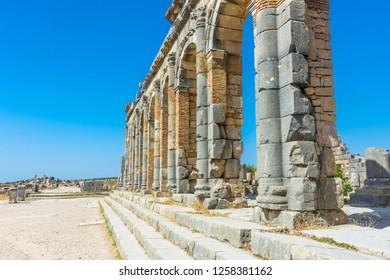 Roman ruins of Volubilis, Morocco