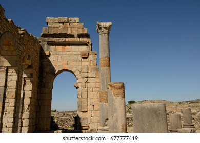 Roman ruins at Volubilis, Morocco, a UNESCO World Heritage site