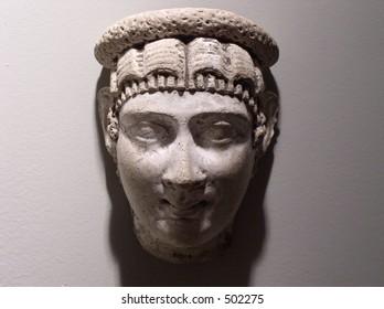 Roman stone head
