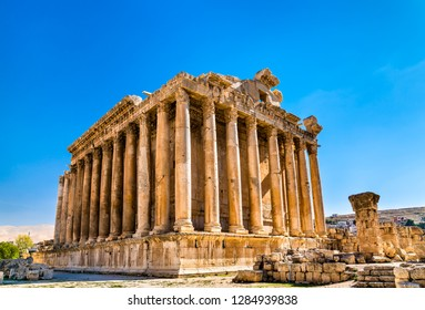 Roman temple of Bacchus at Baalbek in Lebanon, the Middle East