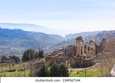 A Roman temple dedicated to Zeus Baal and a byzantine basilica sit at the beginning of the Nahr al Kalb valley on the Mount Lebanon.
