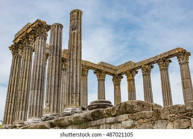 Roman Temple of Diana in Evora, Portugal
