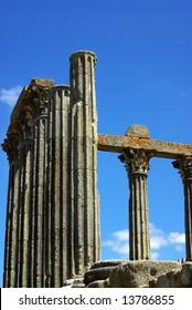 Roman temple in Evora, south of Portugal.
