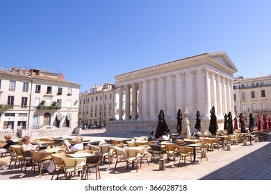 The Roman temple Maison Carree in Nimes, France