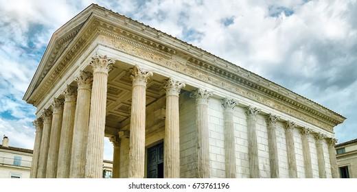 roman temple in Nimes, France