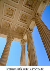roman temple roof