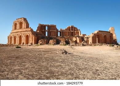 Roman theater, the ancient city of Sabratha, Libya