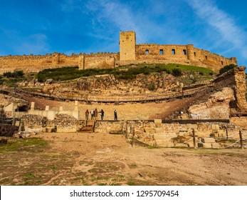 Roman theater of Medellin. Extremadura (Spain)