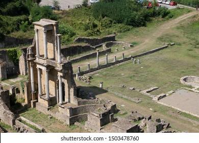 Roman theater and spas in Volterra