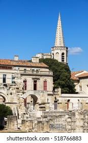 Roman Theatre of Arles. Arles, Provence-Alpes-Cote d'Azur, France.