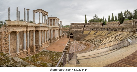 Roman Theatre in Mérida. Located in the archaeological ensemble of Mérida, one of the largest and most extensive archaeological sites in Spain. It was declared a World Heritage Site by UNESCO in 1993.