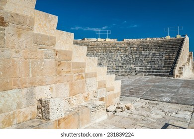 Roman Theatre and ruins at Kourion, on the south coast of the Mediterranean island of Cyprus.