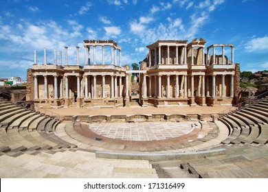 The Roman Theatre (Teatro Romano), Merida, Extremadura (Spain)