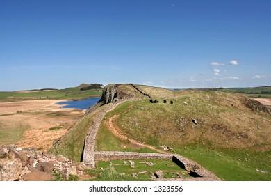 Roman Wall in Northumberland England