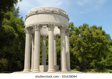 Roman Water Temple With Fluted Columns and Corinthian Capitals