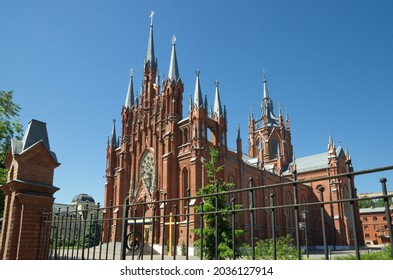 The Roman-Catholic Cathedral of the Immaculate Conception of the blessed virgin Mary on Malaya Gruzinskaya street in Moscow, the largest Catholic cathedral in Russia