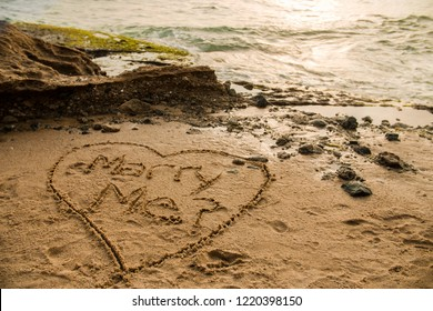 Romance Marry Me Beach Proposal