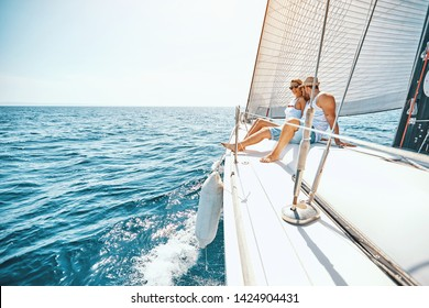 Romance on cruise ship in the summer