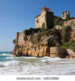 Romanesque castle of Tamarit in Tarragona, Catalonia.