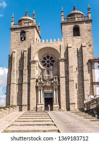 Romanesque Cathedral of Porto, Portugal is a Roman Catholic church located in the historical center of Porto city