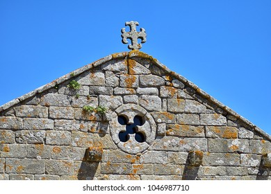 Romanesque chapel of Our Lady of La Lanzada, Galicia.