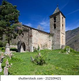 Romanesque church of Assumpcio de Coll (Lleida, Spain)