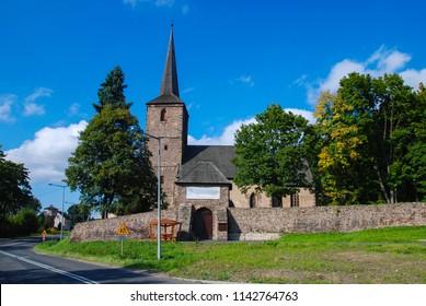Romanesque church in Świerzawa Lower Silesia