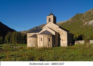 Romanesque church of Sant Feliu of Barruera, Boi Valley, Lleida province, Catalonia, Spain