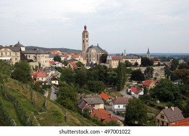 Romanesque church and town in  Kutna Hora, Czech Republic