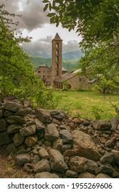 Romanesque Church in the vall de boi Catalonia Spain