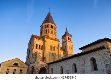 romanesque Cluny church in Burgundy, France