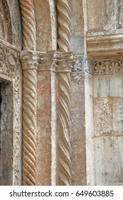 Romanesque decorations of the Cathedral building in Zadar, Croatia