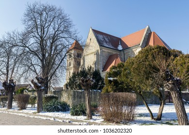 The Romanesque monastery church of Ocsa, Hungary.
