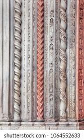 Romanesque style columns, background
