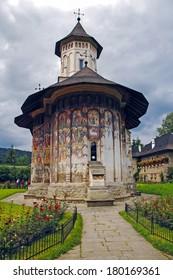 Romania, 5th July 2010. Visiting The Monastery Voronet, Region Suceava.