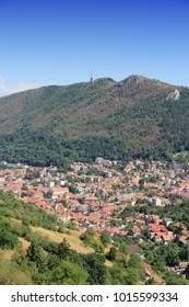 Romania - Brasov aerial view. Old Town in Transylvania.
